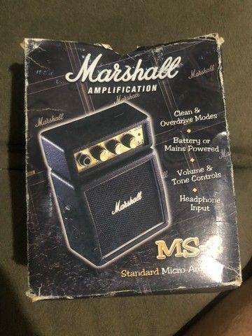 Mini marshall amplificador e violão 12 cordas  - Foto 3