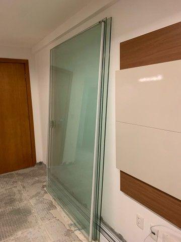 Vendo porta vidro de correr blindex 5,10x2,20 - Foto 5