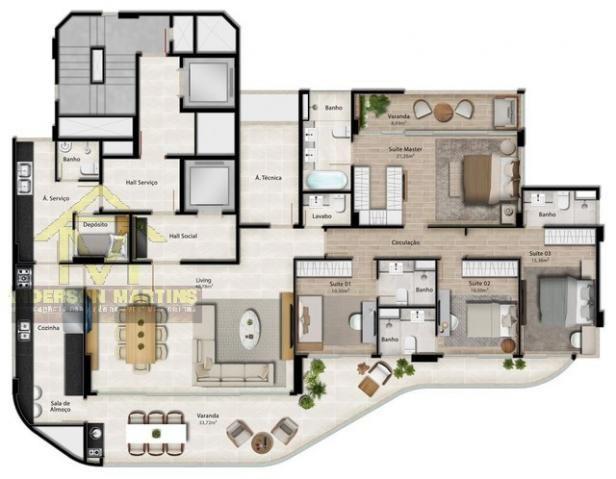 Apartamento à venda com 4 dormitórios em Praia do canto, Vitória cod:8269 - Foto 9