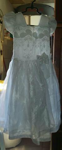 Vendo vestido branco social tam. 12 anos