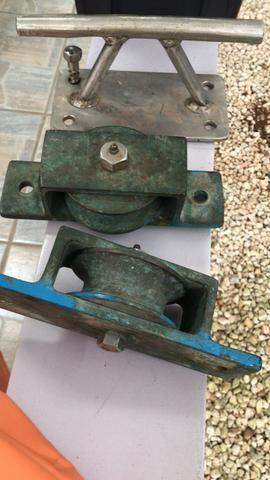 Roldana de bordo bronze - Foto 2