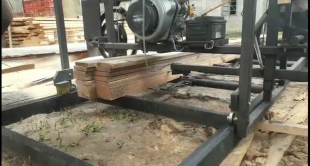 Serra tora 1m , trilho 6m, motor 17hp PE, engenho, serraria portátil - Foto 3