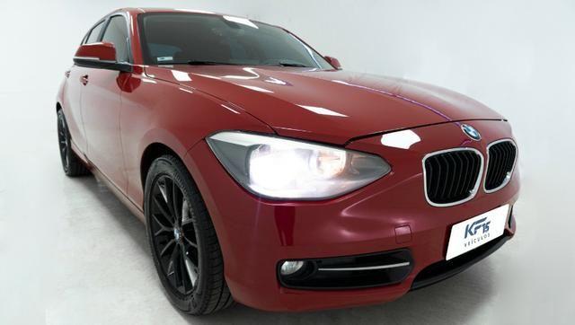 BMW 118i Turbo Gasolina 2013 Vermelho Completo
