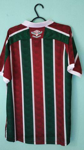Camisa do Fluminense Tricolor Masculina 2020/21 - Foto 4