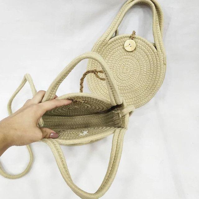 Bolsa redonda corda - Foto 2