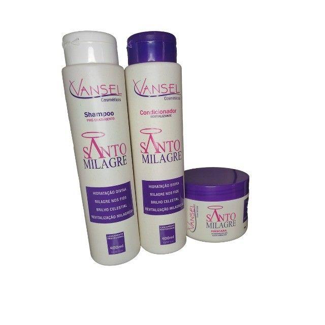 Kit Capilar Santo Milagre Vansel com Shampoo Condicionador e Máscara de Hidratação - Foto 3