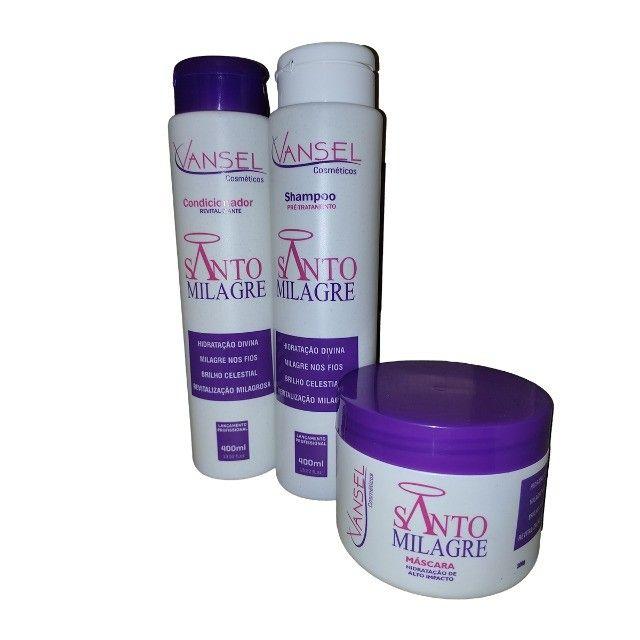 Kit Capilar Santo Milagre Vansel com Shampoo Condicionador e Máscara de Hidratação