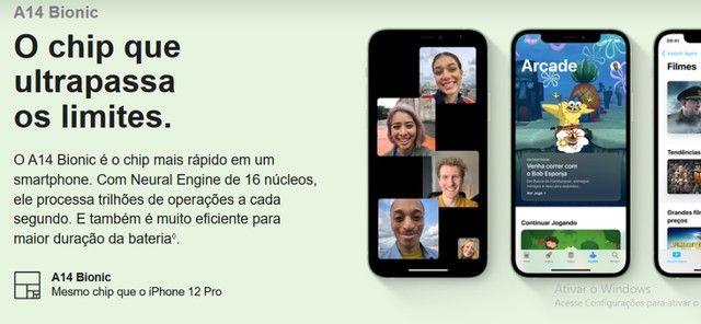 iPhone 12 Apple 128GB Preto, Novo, Lacrado, NF - Foto 5