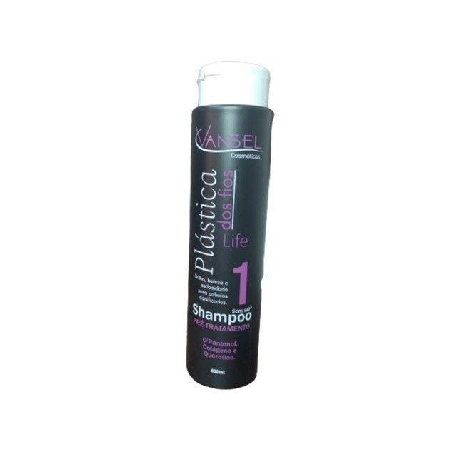 Kit de Tratamento Capilar Plástica dos Fios com Shampoo Condicionador e Máscara - Foto 3