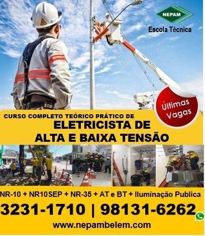 Curso de Eletricista de Alta e Baixa Tensão