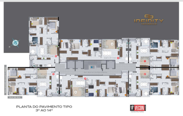 Apartamento Com 3 Suítes - Infinity Residence - Foto 16