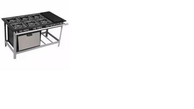 Fogão industrial 6 bocas Baixa pressão com forno e chapa Modelo economy - Foto 2