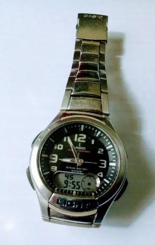 35113713f33 Relógio Masculino Casio Aq-180wd 1bv usado - Bijouterias