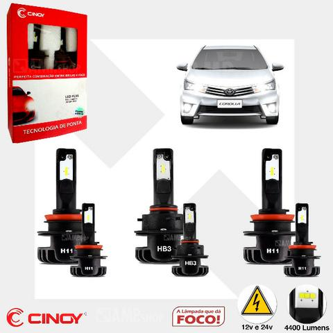 Kit Led Cinoy H11 + Hb3 + H11 Toyota Corolla 09 A 18