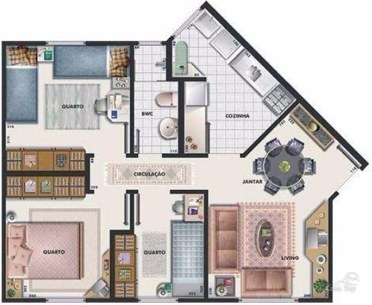 Apartamento à venda com 3 dormitórios em Cidade industrial, Curitiba cod:1416 - Foto 5