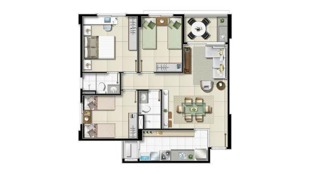 Na Olivia Flores, apartamentos de 2 ou 3 quartos com varanda Gourmet - Foto 3