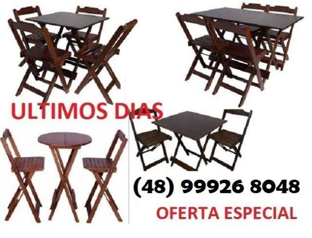 Mesas e Cadeiras Dobráveis Direto da Fábrica