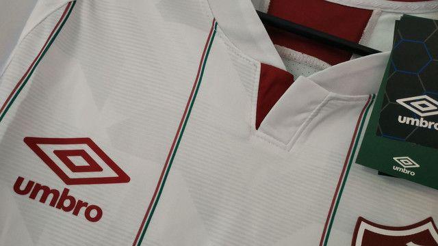 Camisa do Fluminense Branca Masculina 2020/21 - Foto 3