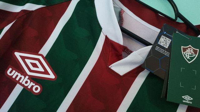 Camisa do Fluminense Tricolor Masculina 2020/21 - Foto 3