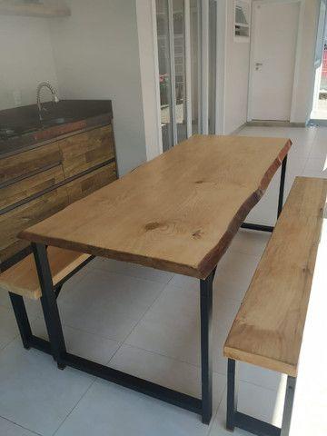Mesa de jantar rústica - Foto 2