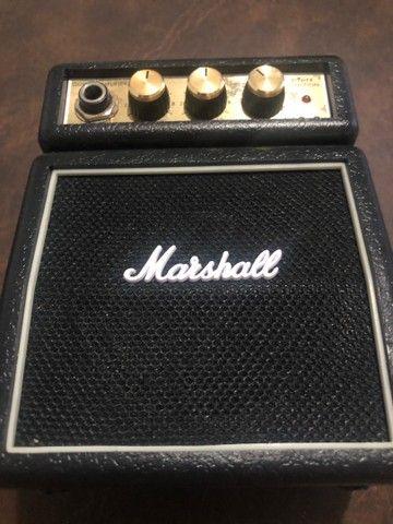 Mini marshall amplificador e violão 12 cordas  - Foto 2