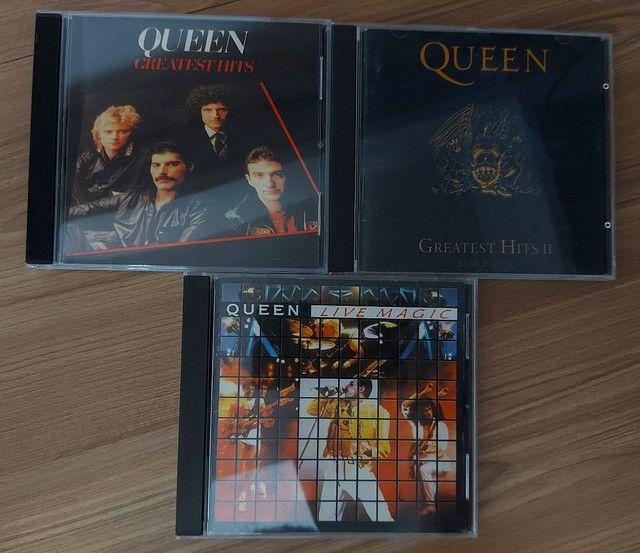 QUEEN - 3 CDS E 2 DVDS EM PERFEITO ESTADO !!!