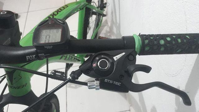 PRA VENDER RAPIDO!Vendo bike alumínio Foxxer 24 velocidades, aro 29 e quadro 17 COMPLETA - Foto 6