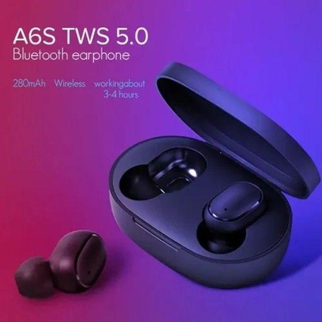 Fone De Ouvido Sem Fio Airdots A6s - Tws - Bluetooth/ Novo e Lacrado - Foto 6