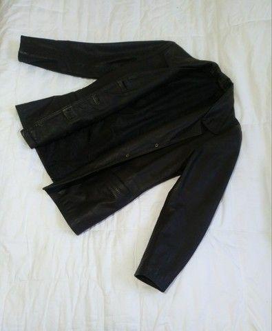 Jaqueta de couro feminina/nativa genuine - Foto 3