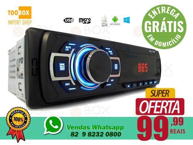 Som Automotivo - SD, USB, FM/AM - Entrega Grátis