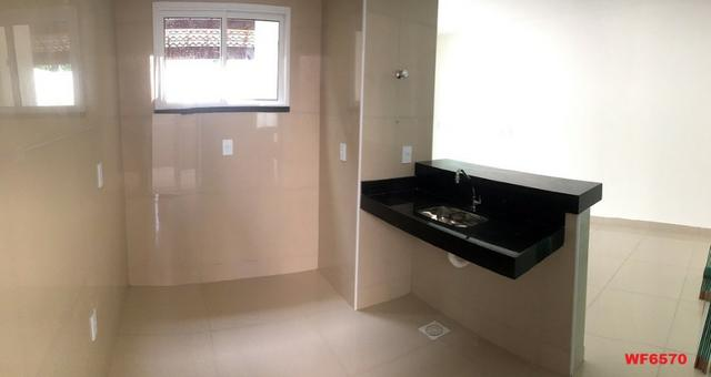 Casa plana na Sapiranga, 3 suítes, 2 vagas, casa nova, Próx Edilson Brasil Soares - Foto 2