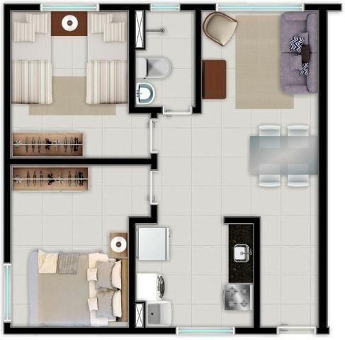 Apartamento no Centro da Caucaia Próx. Shopping Iandê - Promoção ITBI + Registro - Foto 6