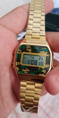 2bfa2324589 Relógio Casio Camuflado - Bijouterias