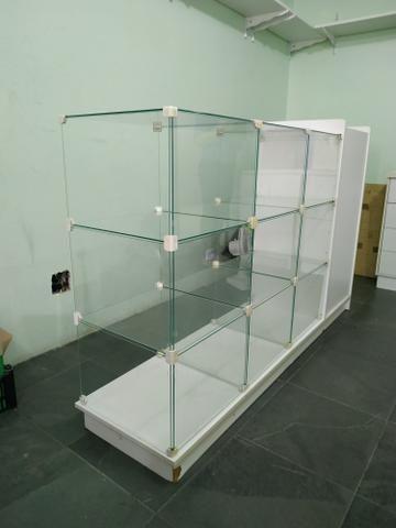 Balcão Caixa MDF /vidro - Foto 4