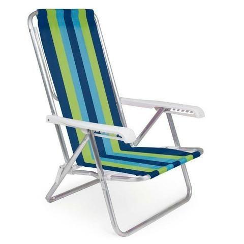 Cadeira Reclinável Alumínio 4 Posições - Mor