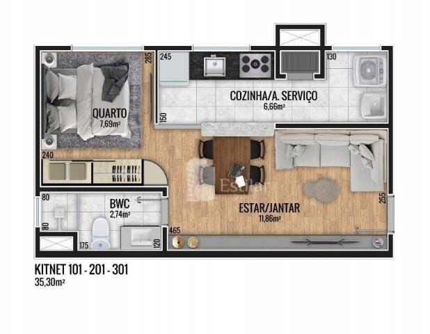 Apartamento 01 quarto no Fanny, Curitiba - Foto 10