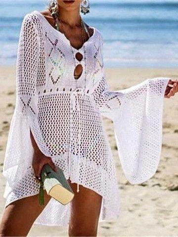 Saída de praia em crochê... - Foto 3