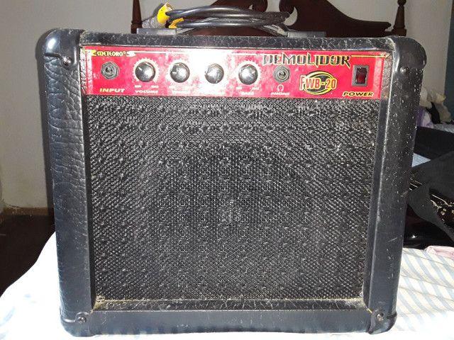 Baixo condor bx12 usado + amplificador  meteoro  demolidor - Foto 4