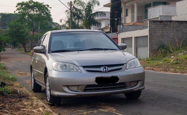 Honda Civic 1.7 2005 bancos de couro - Foto 2