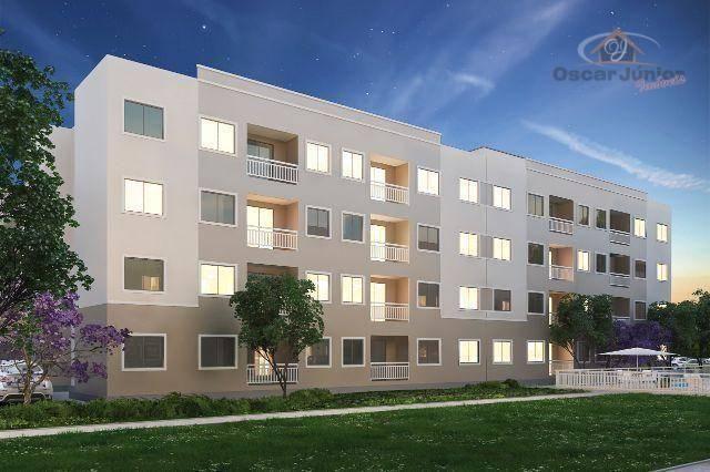 Apartamento com 2 dormitórios à venda, 49 m² por R$ 169.735,00 - Centro - Eusébio/CE - Foto 2