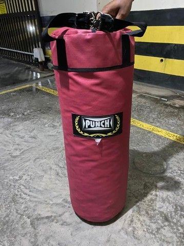 Saco Boxe Pancada Punch 90cm - Foto 3