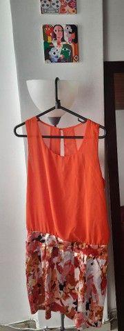 Vestido laranja. Roupa feminina. Bazar brechó desapego - Foto 2