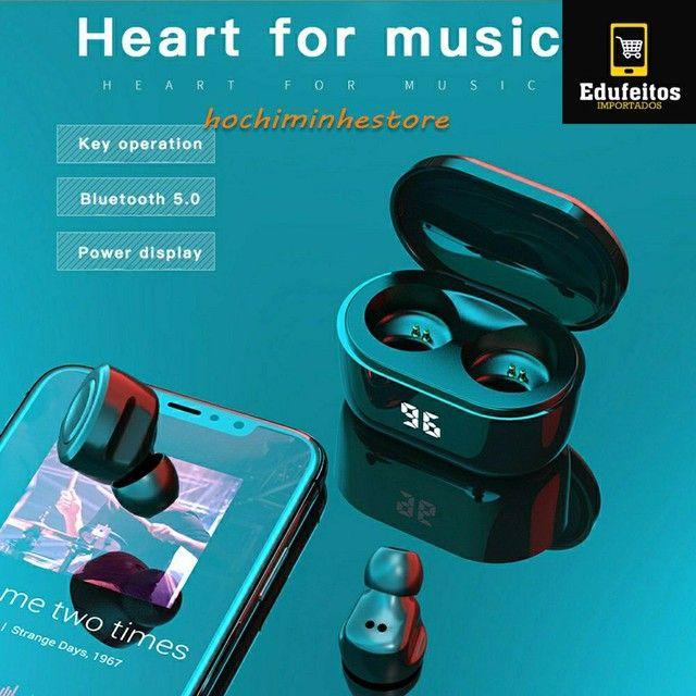 Fone de ouvido com tela digital inteligente Pk Xiaomi Airdots A6 TWS