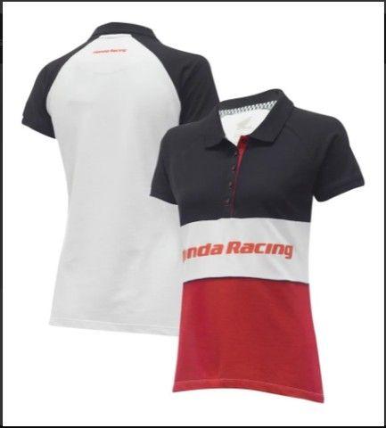Camisa Pólo Feminina Moto Honda - Racing - Produto Oficial