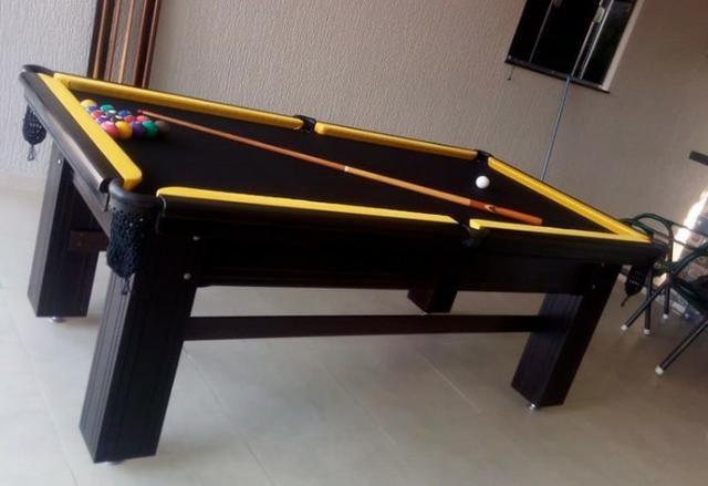 Mesa de Snooker em Madeira Maciça Frete Grátis - Foto 2