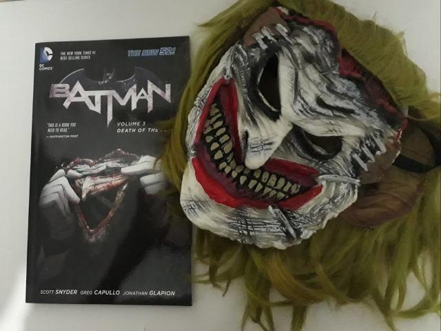Máscara original Coringa Joker + HQ Batman, vol.3: Death of the family