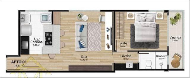 Apartamento à venda com 1 dormitórios em Mata da praia, Vitória cod:8305 - Foto 6