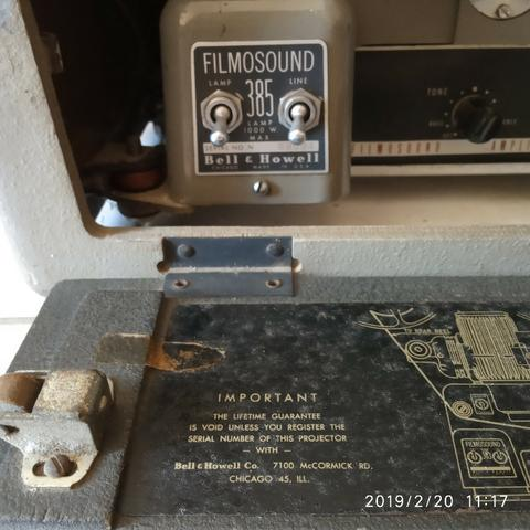Raridade - Projetor de Filmes Bell & Howell 16mm