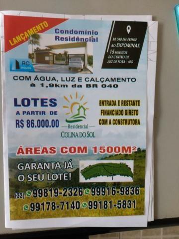 Lançamento - Terrenos residenciais com 1500 m ² a 1, 9 Km da BR 040 - Foto 2