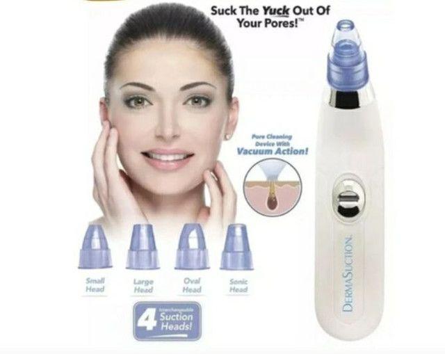 Aparelho Removedor Sucção Cravos Espinhas 4em1 Dermasuction